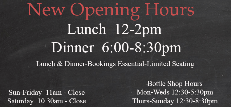 New Opening Hours after Covid 20